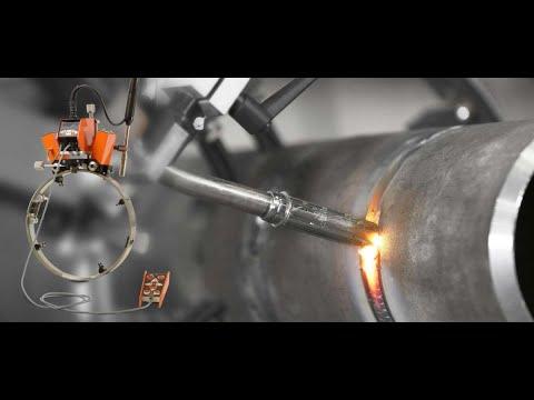 Самые выдающиеся метод сварки трубопровода! Удивительная автоматическая сварочная машина.