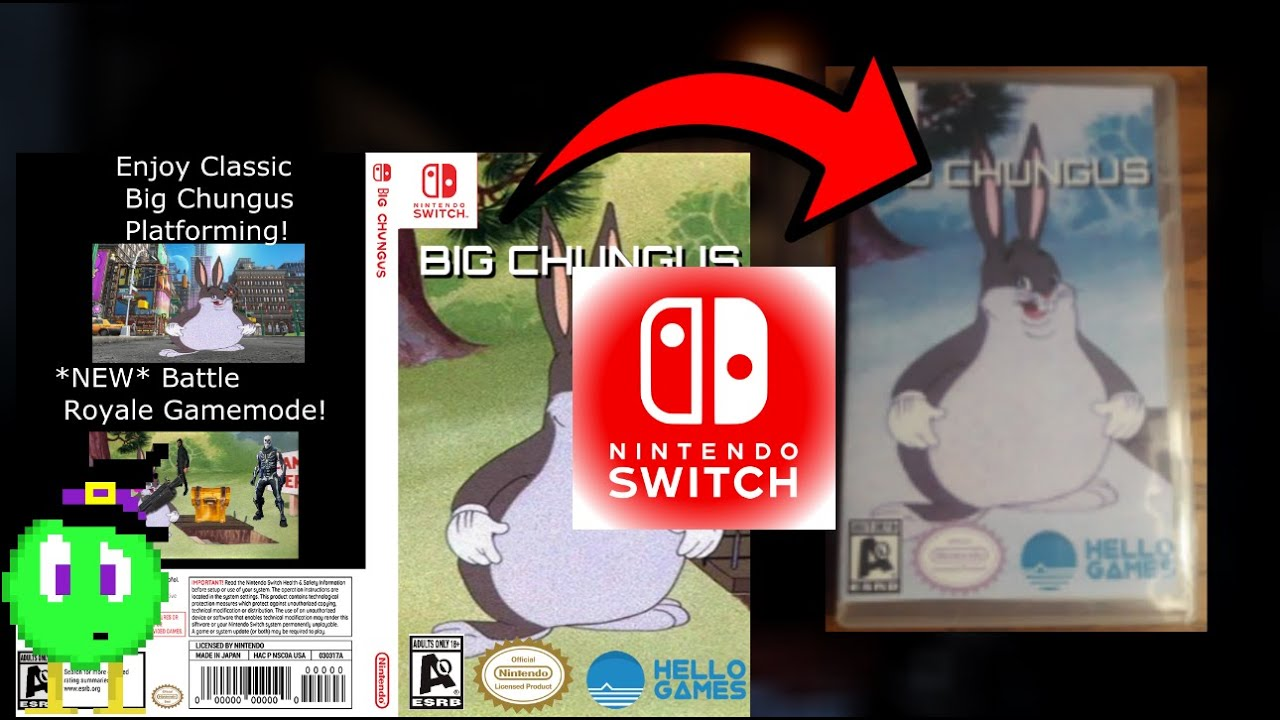 Making Big Chungus Nintendo Switch Edition Video Game Case Speed