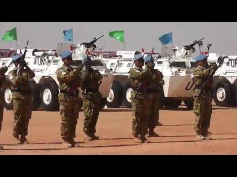 MEDAL PARADE GARUDA XXXV-A UNAMID DI TANAH AFRIKA