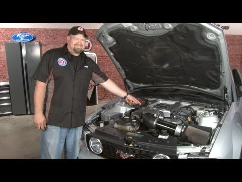 mustang cpc engine cover dress-up kit 2005-2009 installation