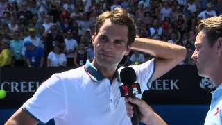 Australian Open: Federer on playing Edberg: 'I won' - 2014 Australian Open