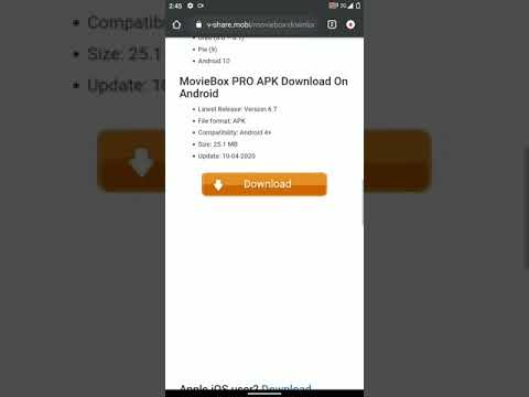 MOVIE BOX PRO 2020 Android 10 free download.