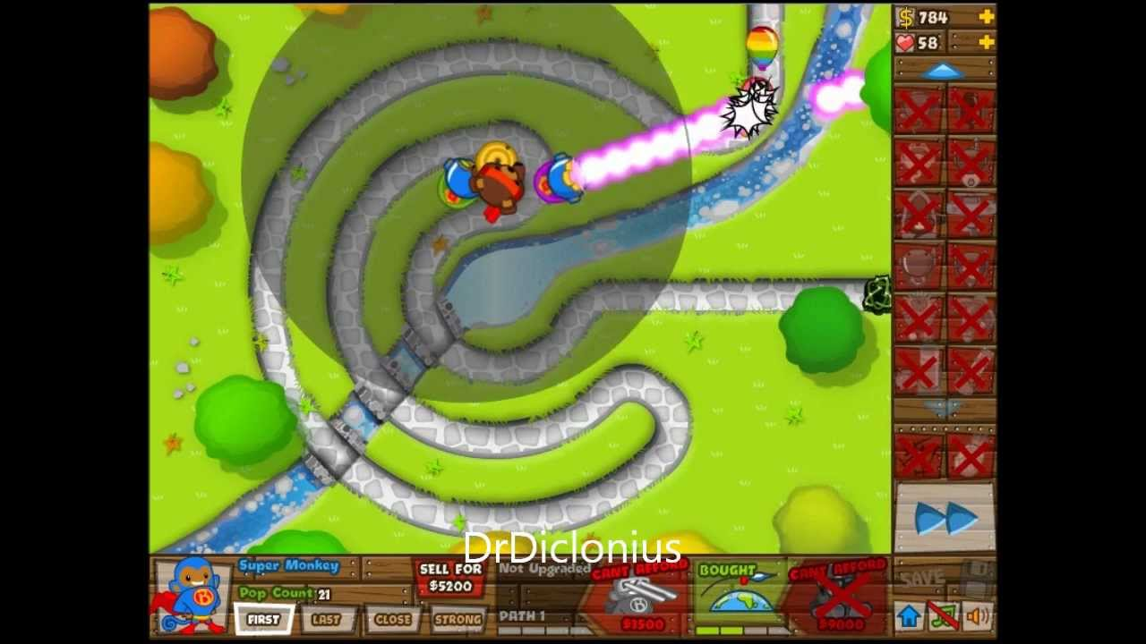 Nature Calls Daily Challenge Bloons TD5 BTD5