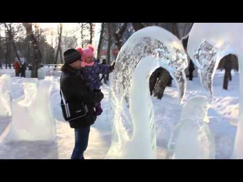 Снежные скульптуры и ледяные скульптуры Новосибирск Snow and ice sculptures