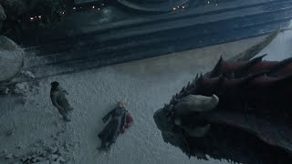 Drogon Finds Daenerys Dead & Melts The Iron Throne By Jon Snow - Game Of Thrones Season 8 Episode 6