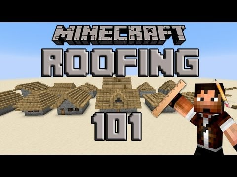 How To Build A Roof In Minecraft Slopes And Styles Tutorial Youtube