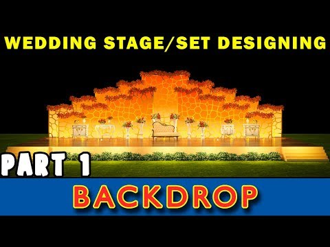 Wedding Stage Design Tutorial: Part 1 ( Backdrop Modeling & Intro ) in Hindi
