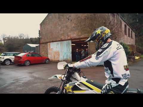 Graham Jarvis Extreme Enduro Champion wheelies and wheel-spins his way around Raw Sport HQ!!!