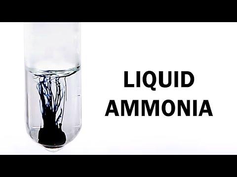 Making Liquid Ammonia and Ammonia Gas (& dissolving Li and Na metal)