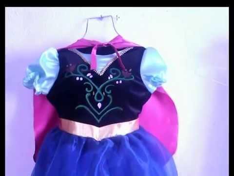 f6970a38b Disfraz de Princesa Anna. Frozen para niña + patrones.