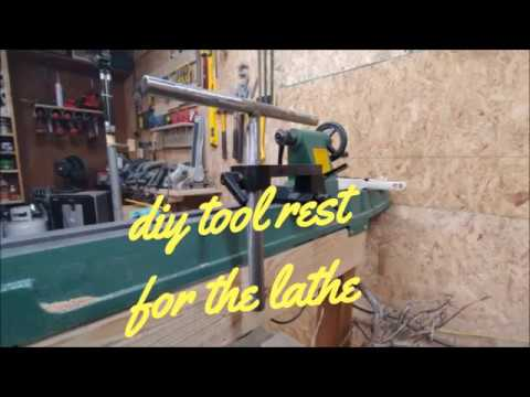 woodturning- DIY tool rest for the lathe