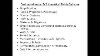 coal india managment traniee electrical syllabus 2017