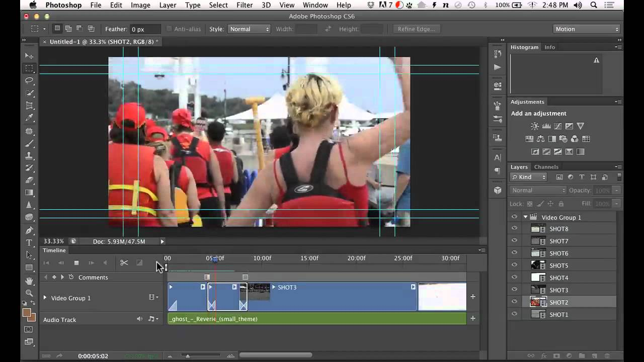How to Edit Video in Photoshop CS6 - YouTube