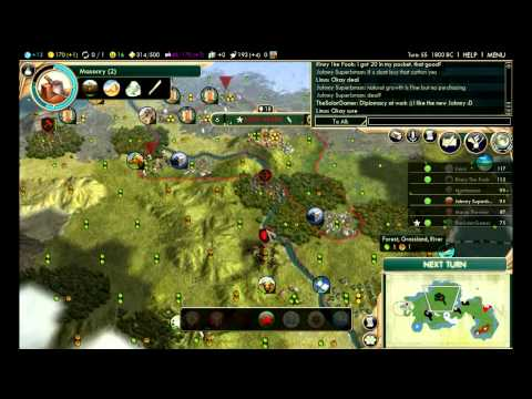 """Civilization 5: Multiplayer BNW ep. 2 """"Boxed In"""""""
