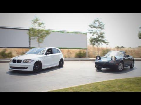 Mazda MX-5 and BMW 1 Series Drift / GoPro /  DJI Phantom 3 Professional [4K]