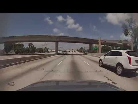 Miami, Florida - Drive along the Dolphin Expressway (State Road 836) HD (2015)