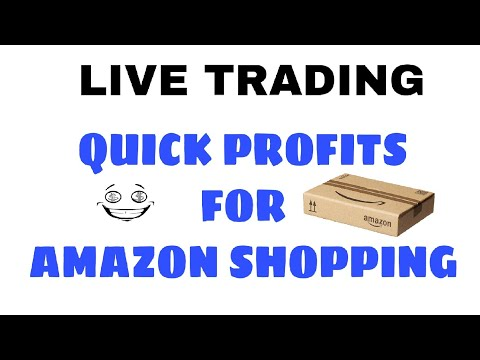 LIVE TRADING- Quick Profits for Amazon shopping by SMART TRADER of Indian Stock Market Trading Tips