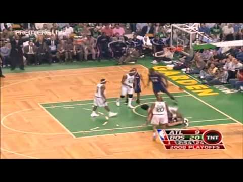 Marvin Williams Posterizes Leon Powe ¡¡¡RARE DUNK!!! [Playoffs 08]