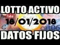 LOTTO ACTIVO DATOS FIJOS PARA GANAR  18/01/2018 cat06