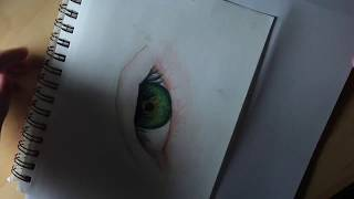 Realistic Colored Pencil Eye Drawing\\ Madison Melott
