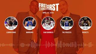 First Things First audio podcast(4.23.18) Cris Carter, Nick Wright, Jenna Wolfe | FIRST THINGS FIRST
