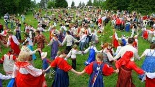 Русские народные подвижные игры на фестивале ЗОЖ