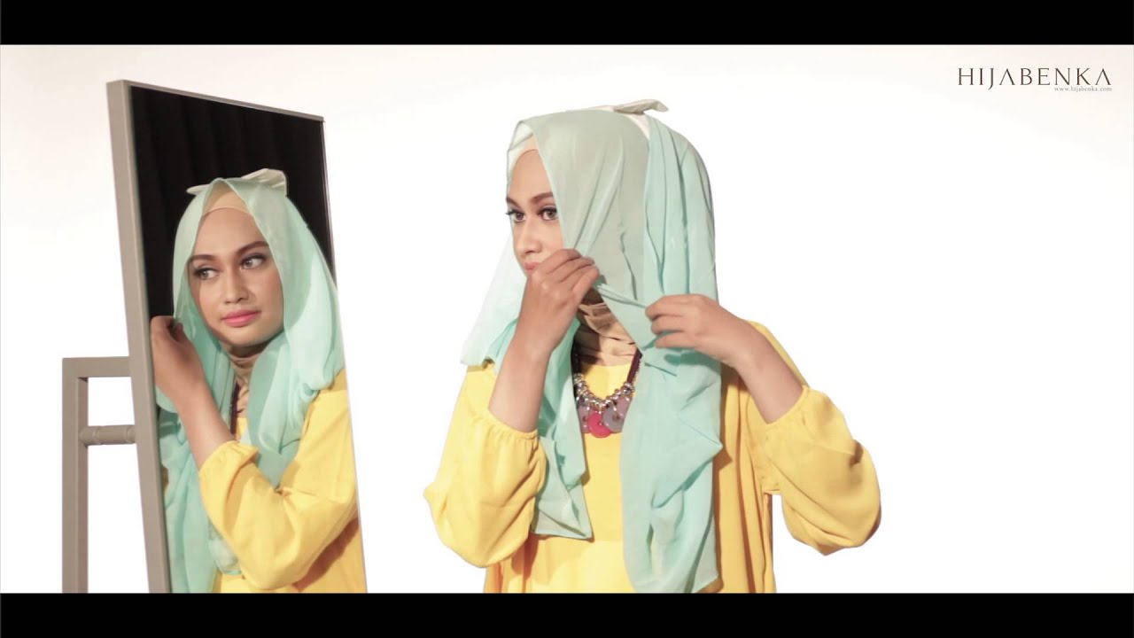 Color Block Style Hijab By Hijabenkacom YouTube