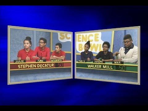 Science Bowl 2015-16: Stephen Decatur vs Walker Mill