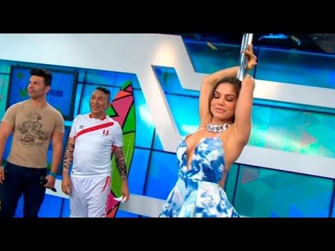 Espectáculos: Vanessa Jerí mostró su lado † hot † al hacer † baile del tubo †