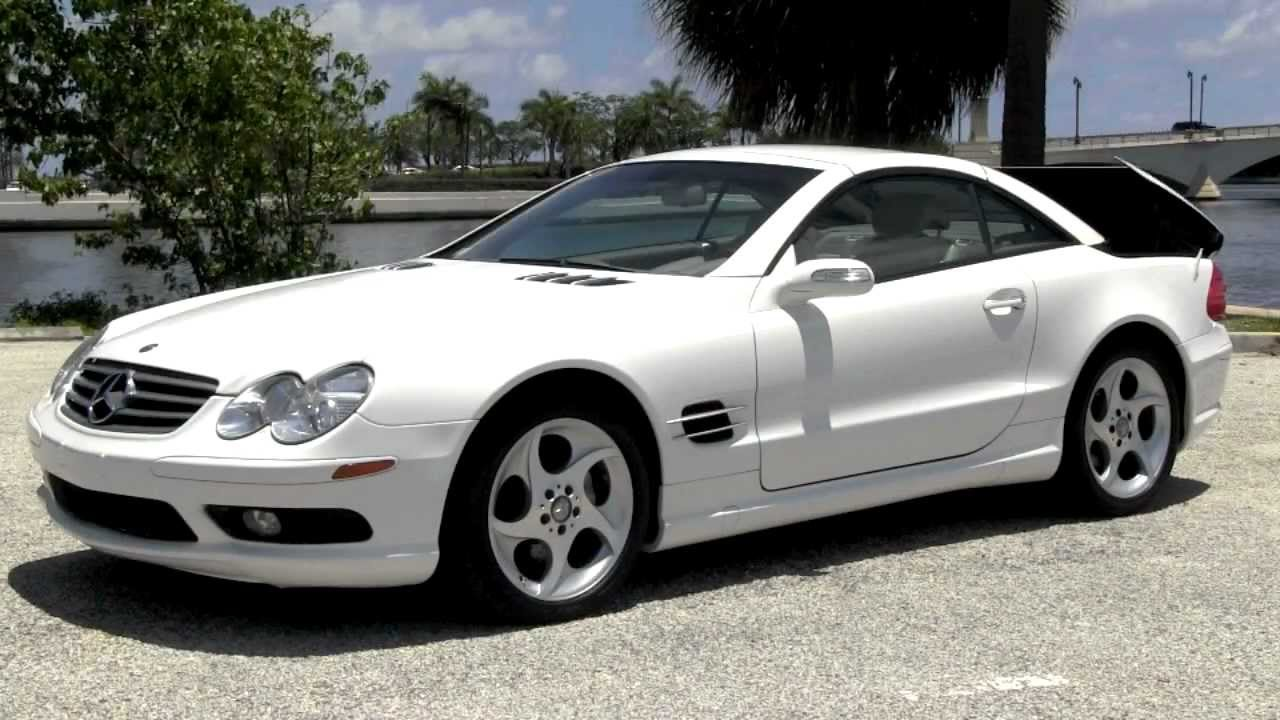 2004 Mercedes Benz Sl500 White Community Auto S Palm Beach You