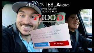 Activate LUDICROUS + - Tesla Model X P100D - Sh*! Cops!