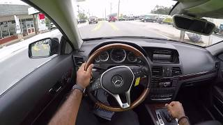 2013 Mercedes Benz E350  Convertible Coupe POV Test Drive