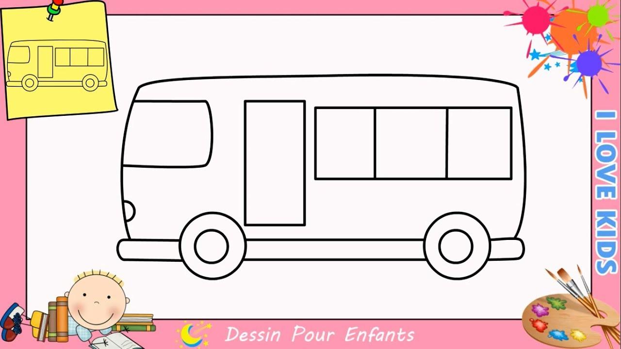 Comment dessiner un bus facilement etape par etape pour enfants 8 youtube - Comment dessiner un enfant ...