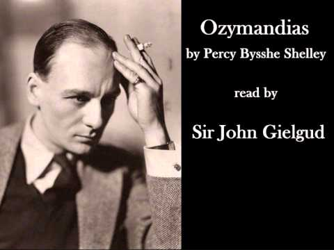 Ozymandias by Percy Bysshe Shelley read by John Gielgud