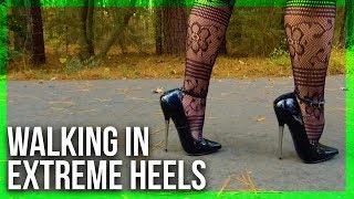 Walking in 6in. PLEASER DAGGER-12 Heels!