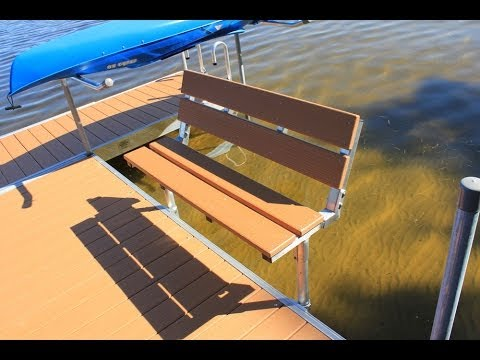 Dock Bench that snaps on
