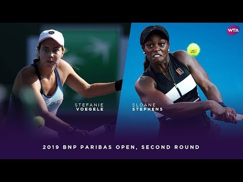 Stefanie Voegele vs. Sloane Stephens   2019 BNP Paribas Open Second Round   WTA Highlights