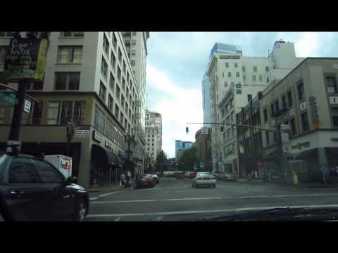Driving Portland, Oregon City Center