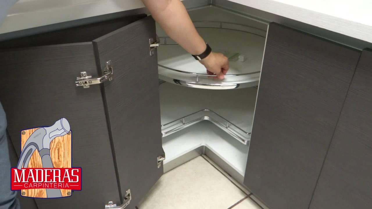 Base giratoria para gabinete en esquina / Kidney shaped organizer ...
