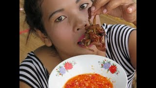 Amazing Beautiful Girl Cooking Chicken Gut     Village Food Factory