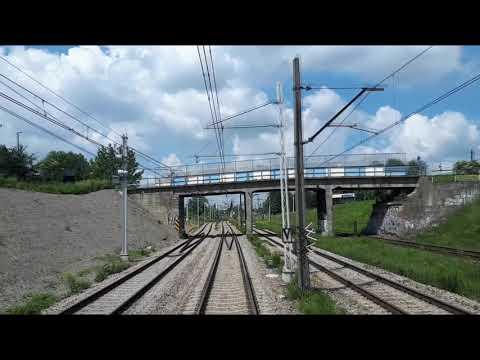 Przejazd pociągiem TLK z Krakowa Głównego przez Nową Hutę do Rzeszowa Głównego