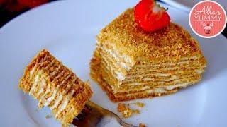 how To Make Russian Classic Honey Cake || Как Приготовить Классический Медовый Торт (2018)