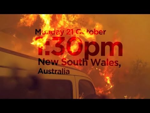 How bad is the fire damage in NSW, Australia?