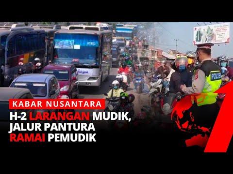 H-2 Larangan Mudik, Jalur Pantura Ramai Pemudik | Kabar Nusantara