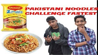 Fastest Noodles Eating Challenge By Pakistani Latest 2018