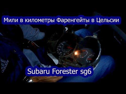 Мили в километры фаренгейты в Цельсии Subaru Forester