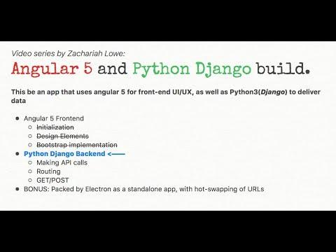 Angular(5) and Python(Django) app - 3/5 - Django initialization