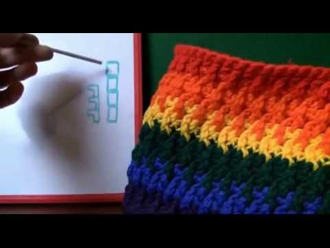 Left Hand: Back Post Double Crochet Stitch
