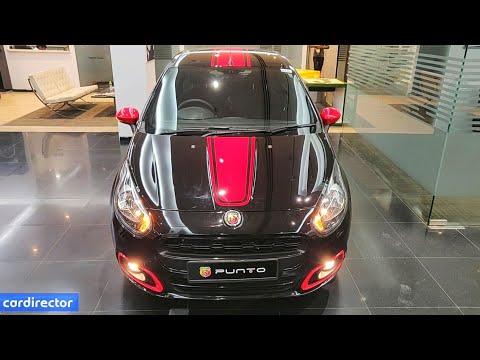 Fiat Abarth Punto 2019   Black Abarth Punto Evo   Interior and Exterior   Real-life Review