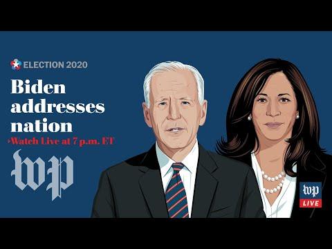 WATCH LIVE | Biden, Harris to speak after winning historic election